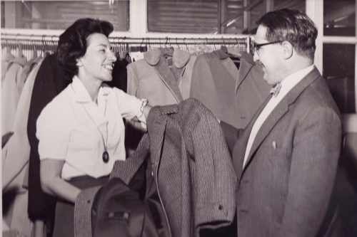 Margaret and Joe Kagan at the famous Elland textile mill in Yorkshire