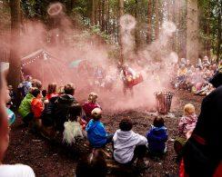 Campfire stories kept children enthralled