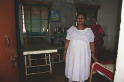 Swati Simha's research trip to India included a primary health centre in Noamundi