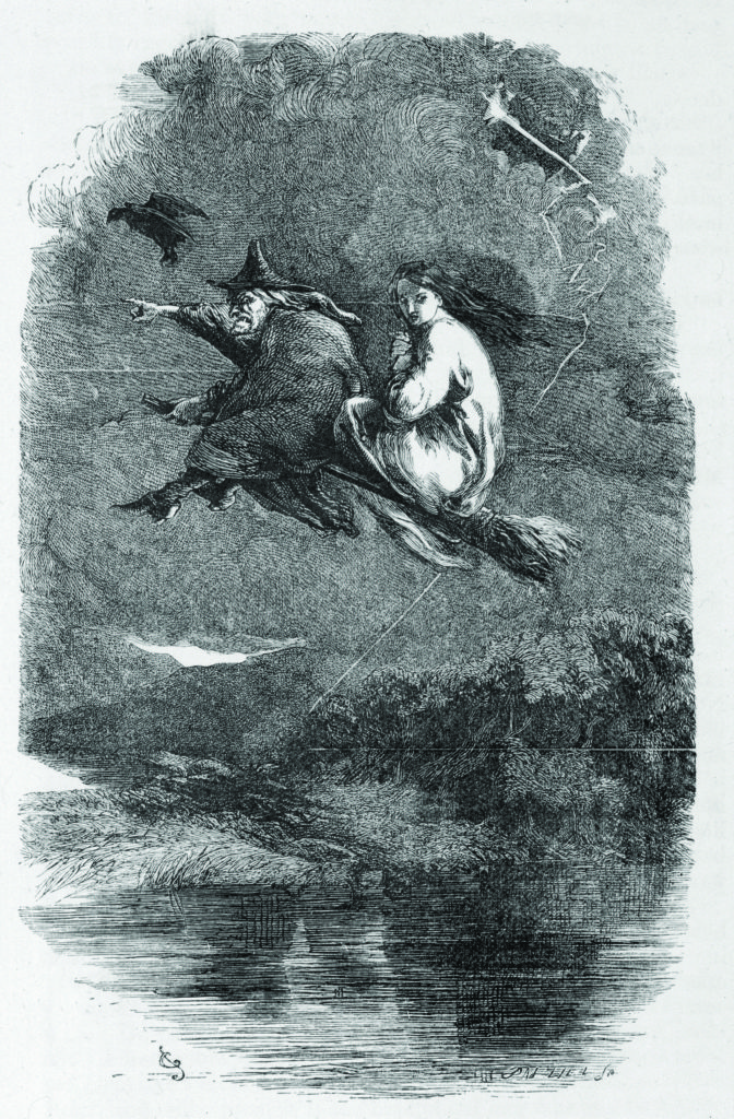 THE LANCASHIRE WITCHES Mother Chattox, noted local witch, rides to Pendle Hill Date: 1612