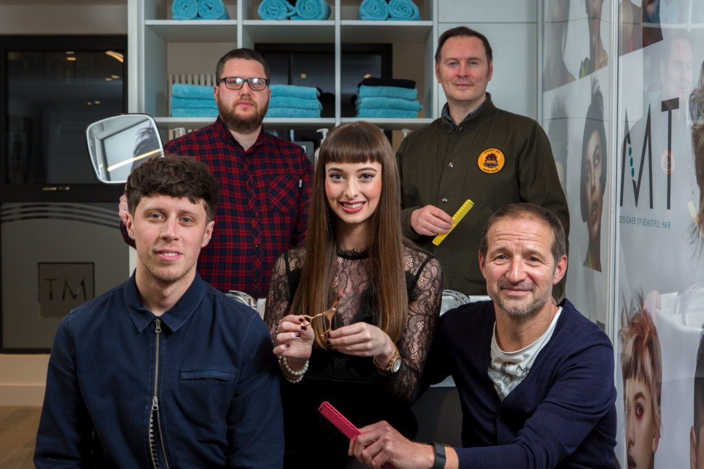 Left to right: Ross Parlane, Damien Feeley, Melissa Timperley, Nick McClure, Olivier Morosini