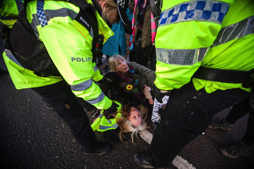 'A tidal wave of force' - Lancashire fracking protests