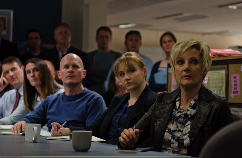 Lesley Sharp as Maggie Oliver in the BBC drama Three Girls