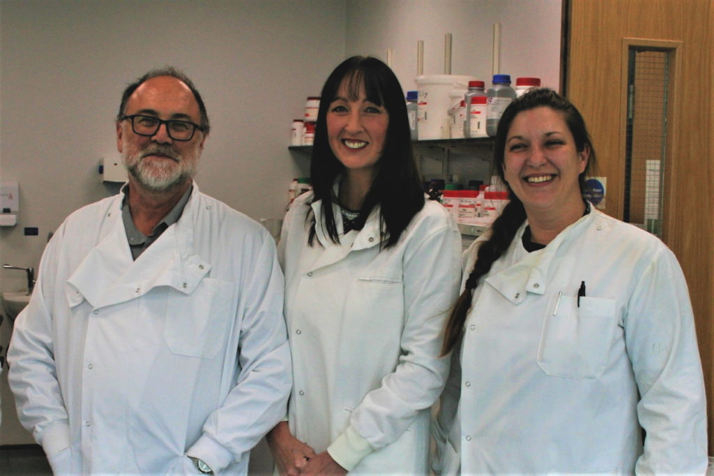 Dr David Allsop, Dr Penny Foulds and Dr Norah Ulzheimer, leading the Alzheimer's research