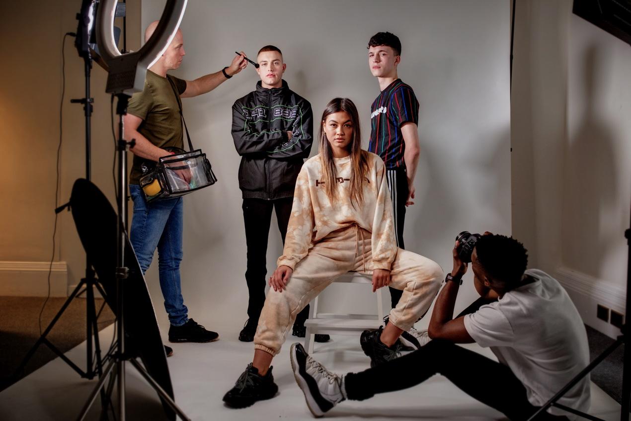 Jordan Backhouse (left), Ruby Wong and Ellis Stelfox