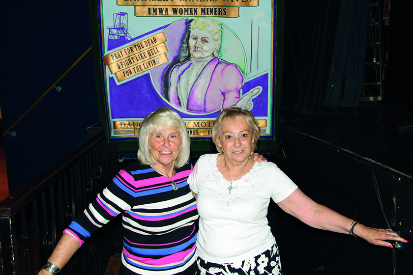 Anne Scargill (left) and Betty Cook were fellow activists in the Women Against Pit Closures movement and remain friends to this day